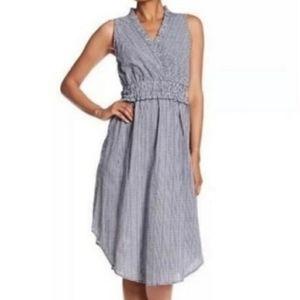 Hope & Harlow Blue White Gingham Dress 12